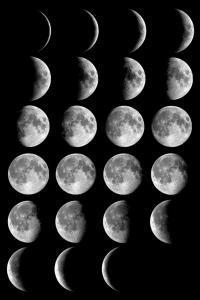 Moon phases 200x300 Почему Луна меняет форму, фазы Луны