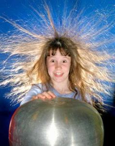 static electricity 238x300 Почему электризуются волосы?