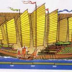 Китайская джонка и европейский корабль