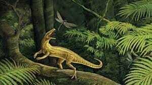 Один из первых динозавров - Эупаркерий