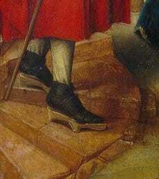 Средневековая обувь на платформе