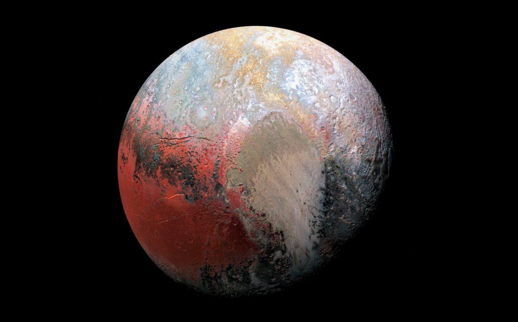 Изображение Плутона в цвете