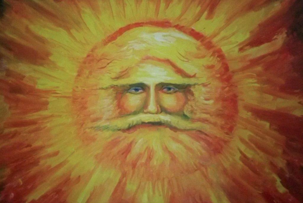 Изображение бога Ярило, который символизирует собой Солнце