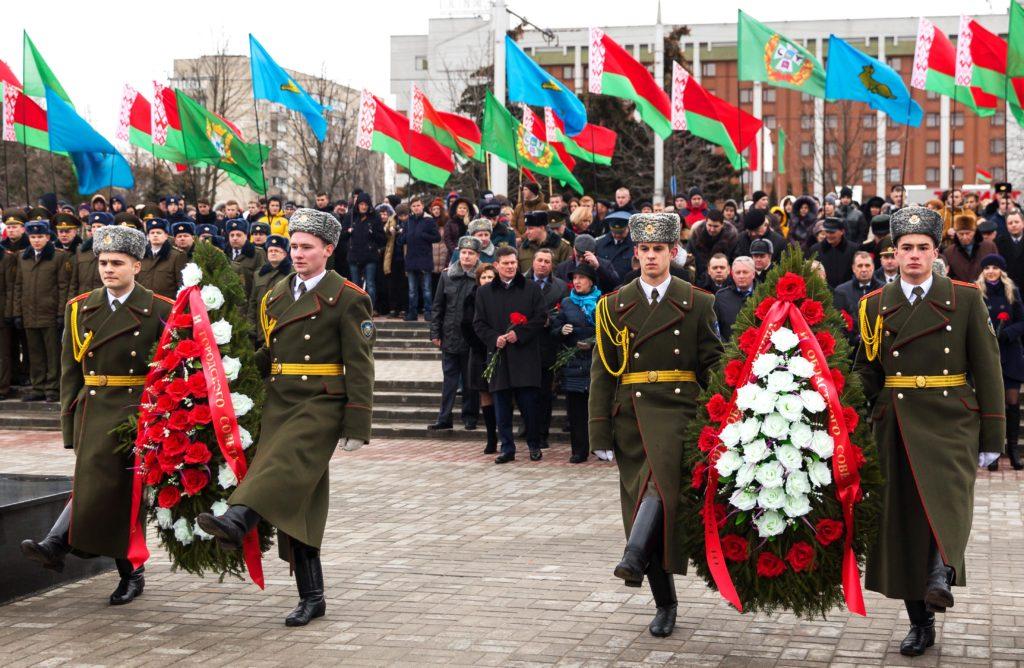 Митинг, посвященный Дню защитника Отечества в Белоруссии