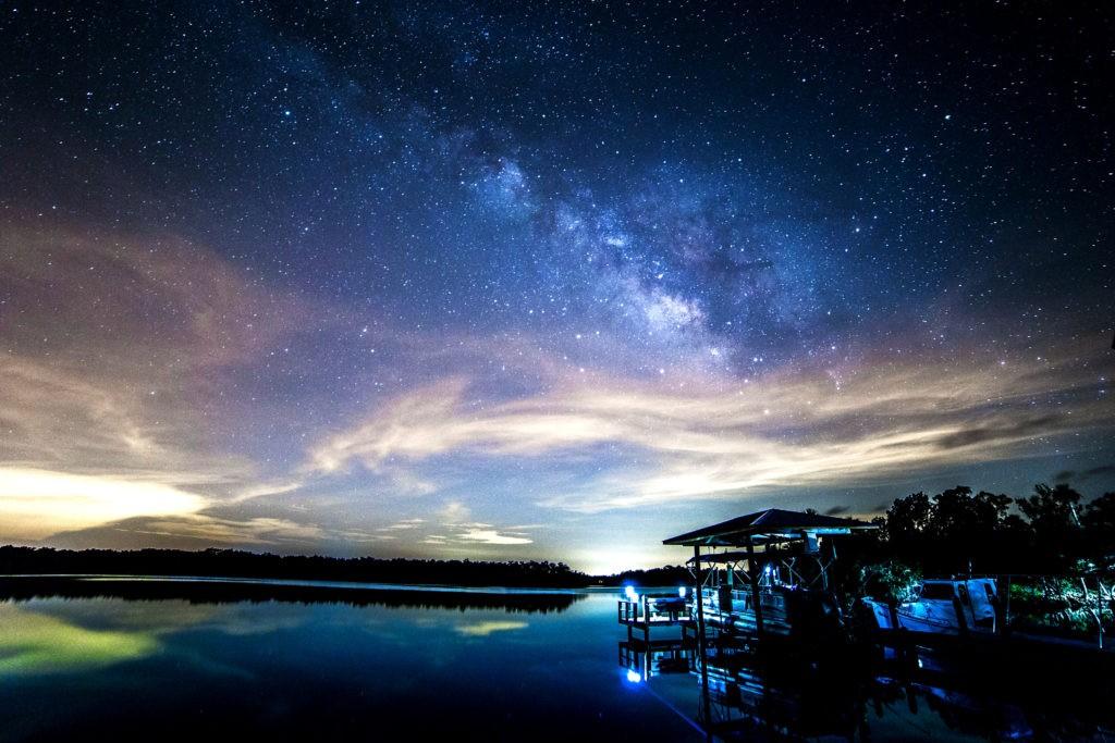 Фото ночного неба с длинной выдержкой