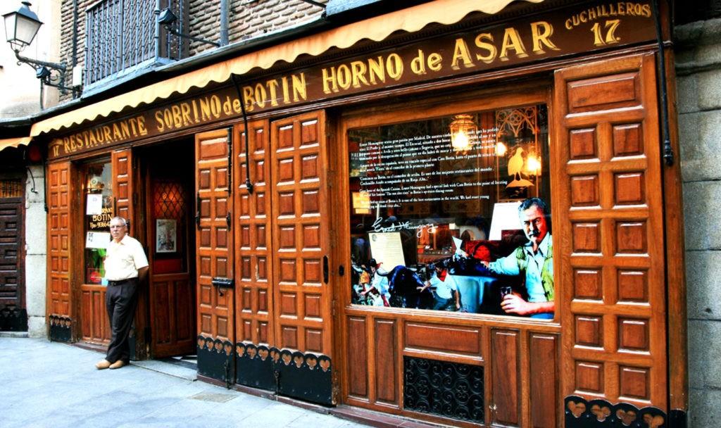 Собрино де Ботин - самый старый действующий ресторан в мире, основан в 1725 (Мадрид)