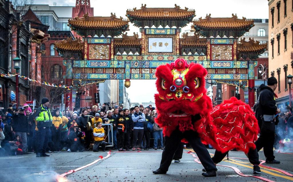 Праздник Весны в китайском квартале Вашингтона