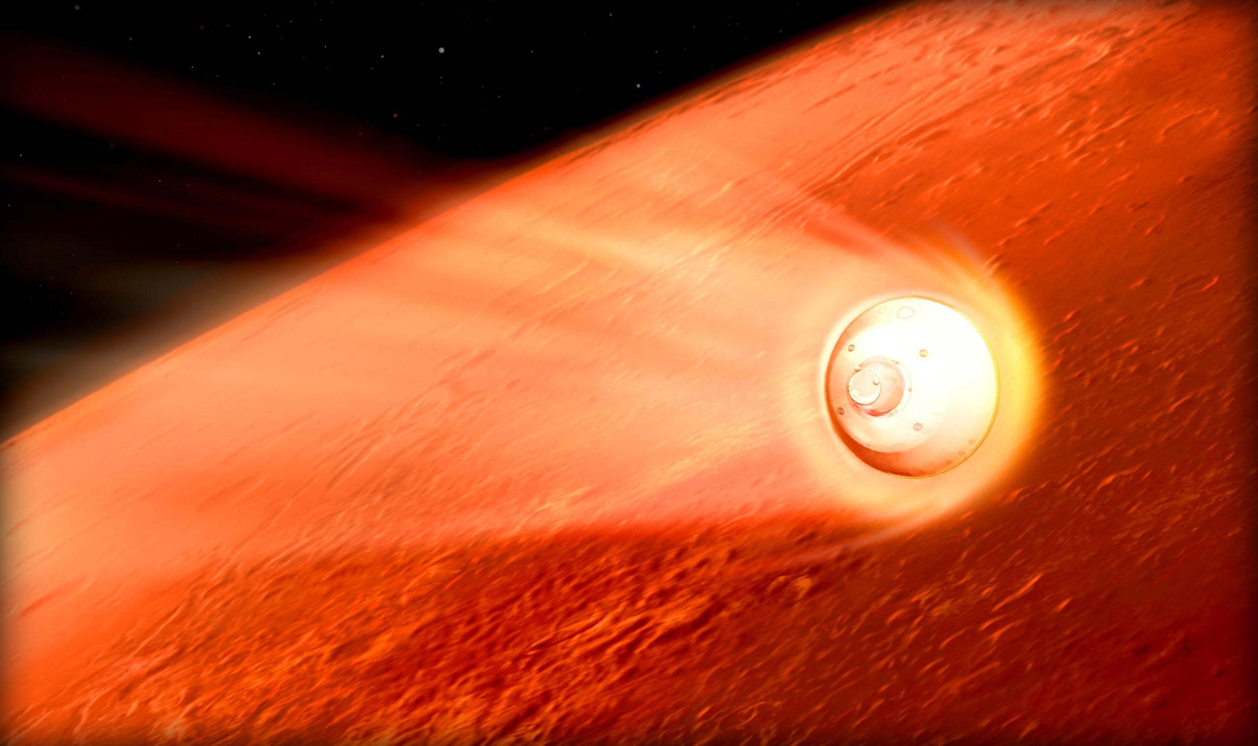 Марсоход с вертолетом на борту приземлится на Марсе на этой неделе