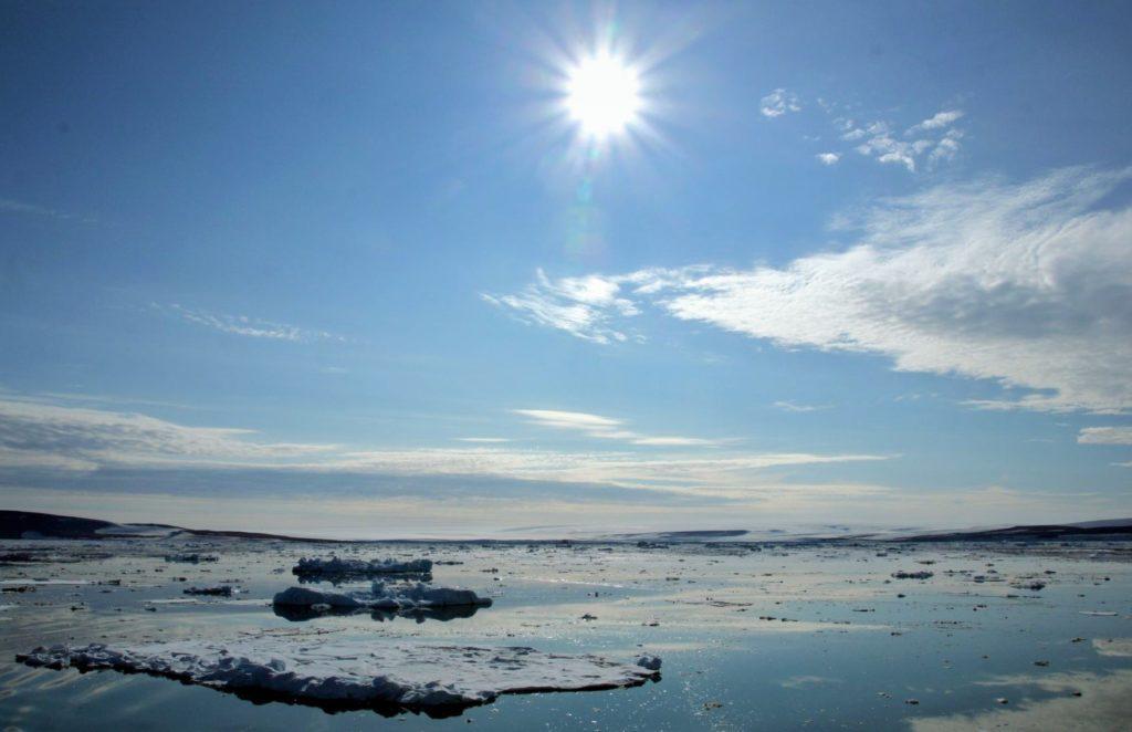 Полярный день на Северном полюсе
