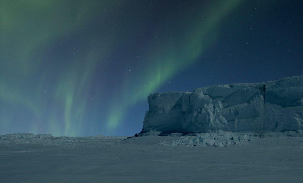 Полярная ночь на северном полюсе