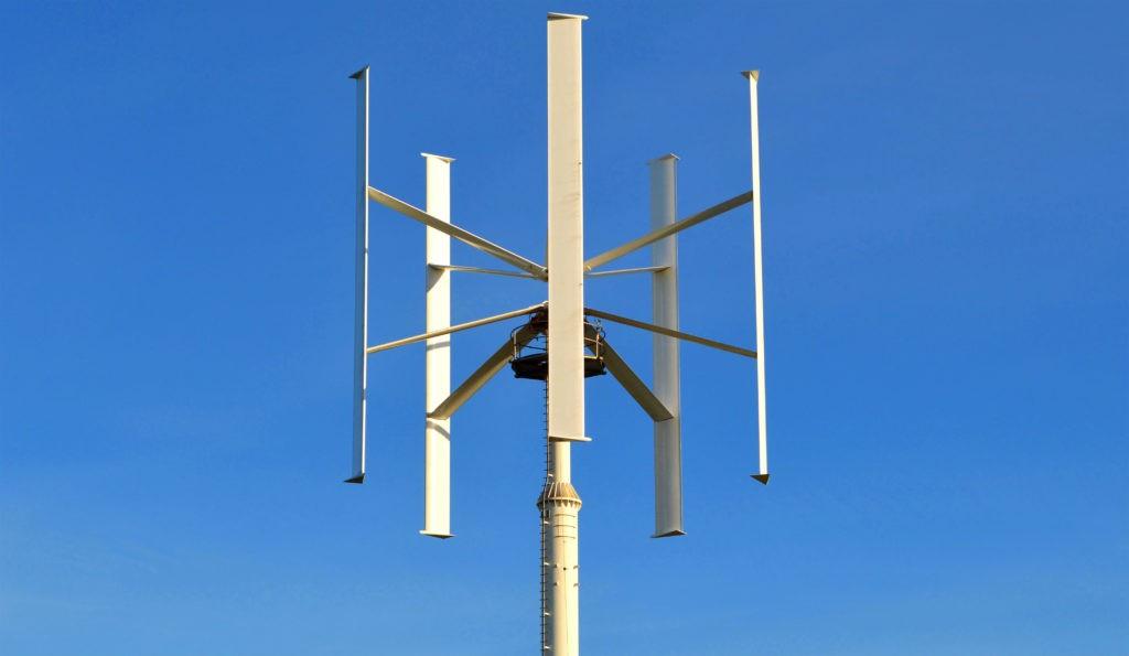 Пример вертикального ветрогенератора