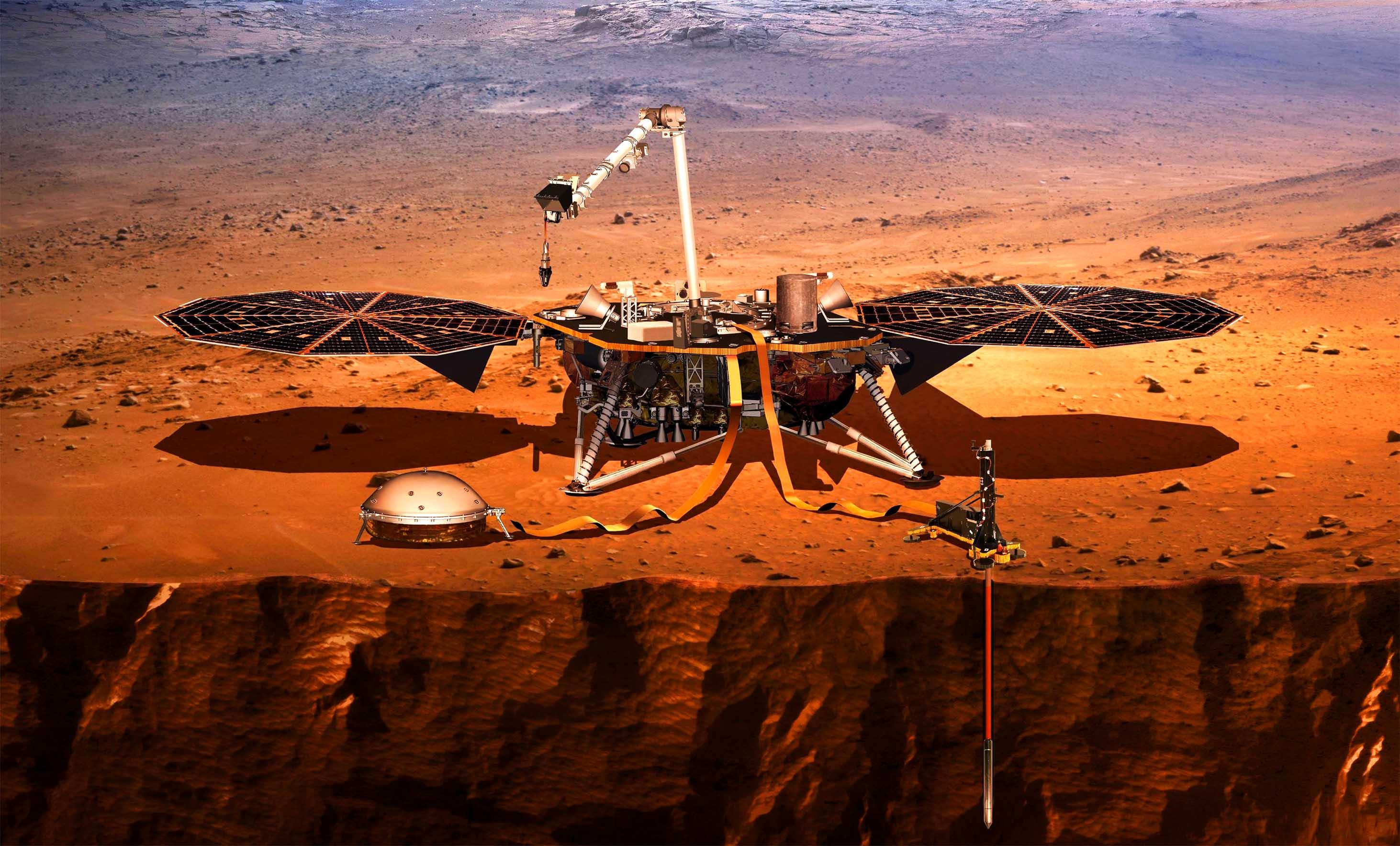 В НАСА рассчитали размер ядра Марса