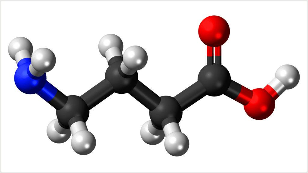 Молекула гамма-аминомасляной кислоты (ГАМК)