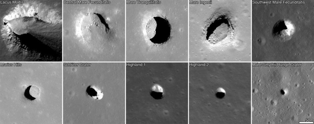 Лавовые трубки на Луне