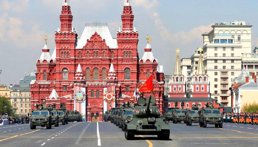 Парад военной техники 9 мая в Москве