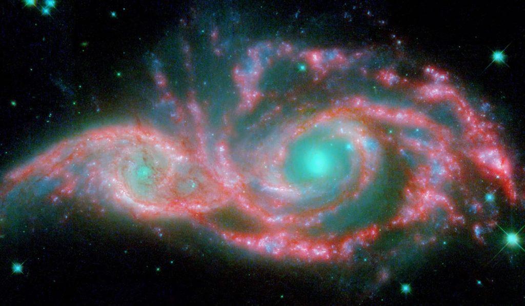 Иллюстрация столкновения галактик