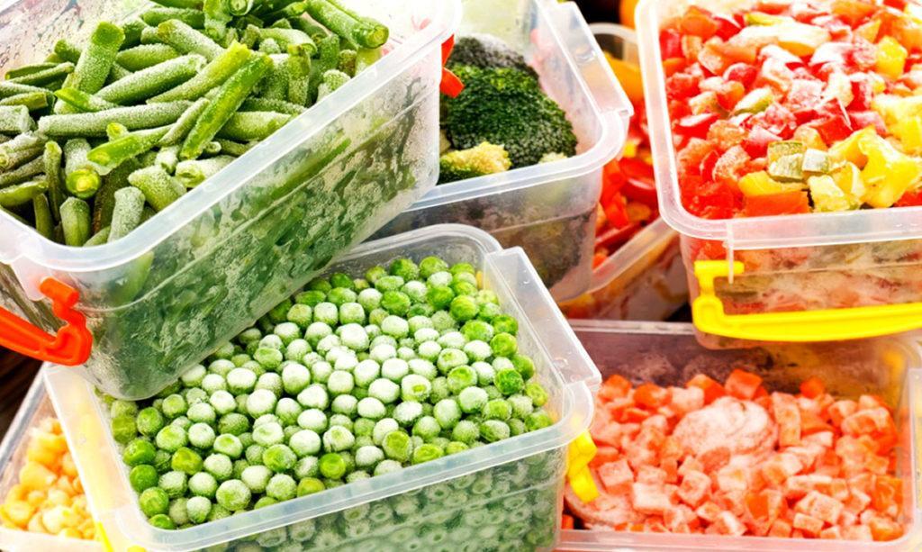 Замороженные продукты должны храниться в герметичных упаковках или емкостях