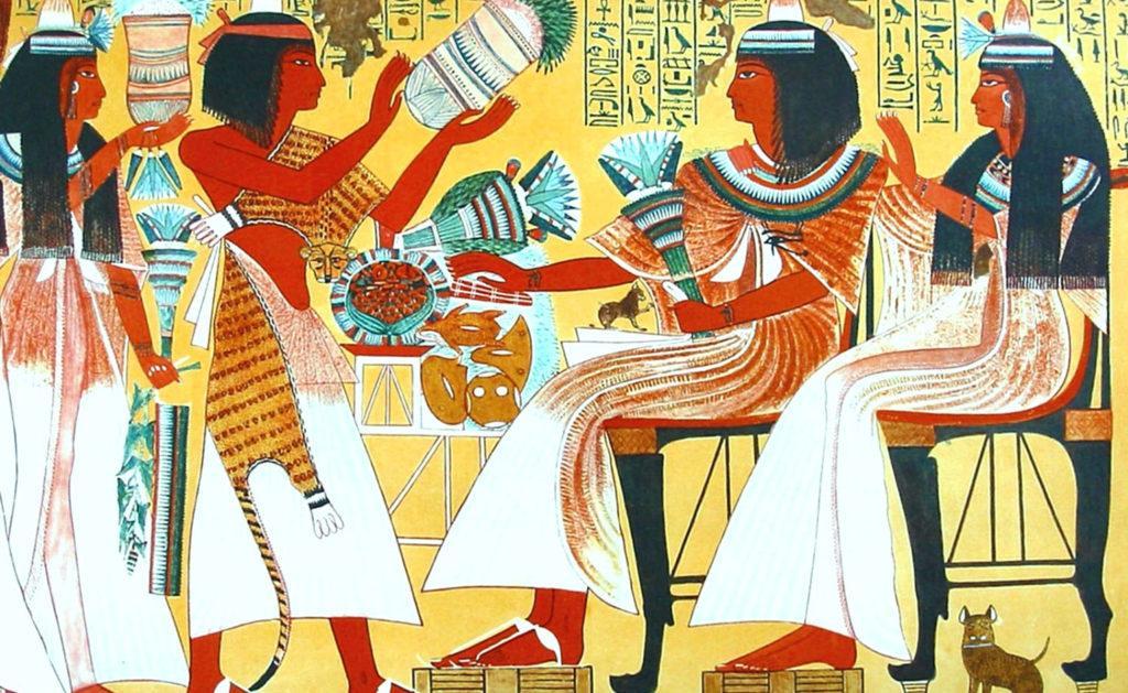 Фреска с изображением древних египтян