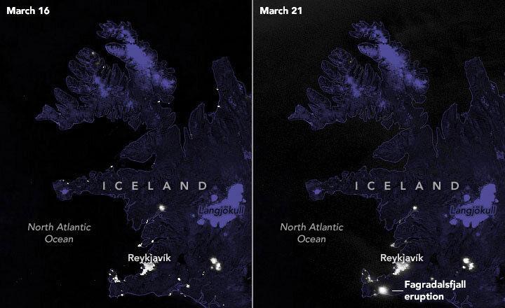 Фото вулкана со спутника