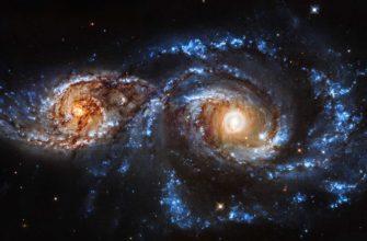 «Хаббл» обнаружил двойные квазары в сливающихся галактиках