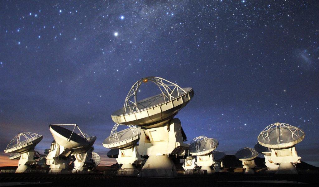 Часть комплекса радиотелескопов ALMA