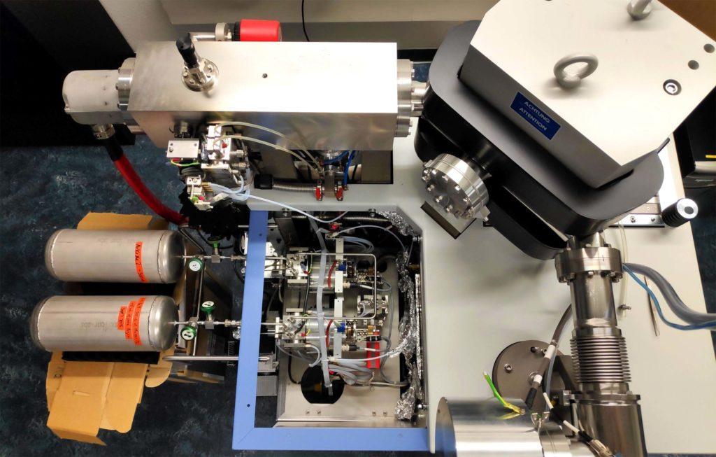 Масс-спектрометр, который использовался для реконструкции концентраций газов в керне