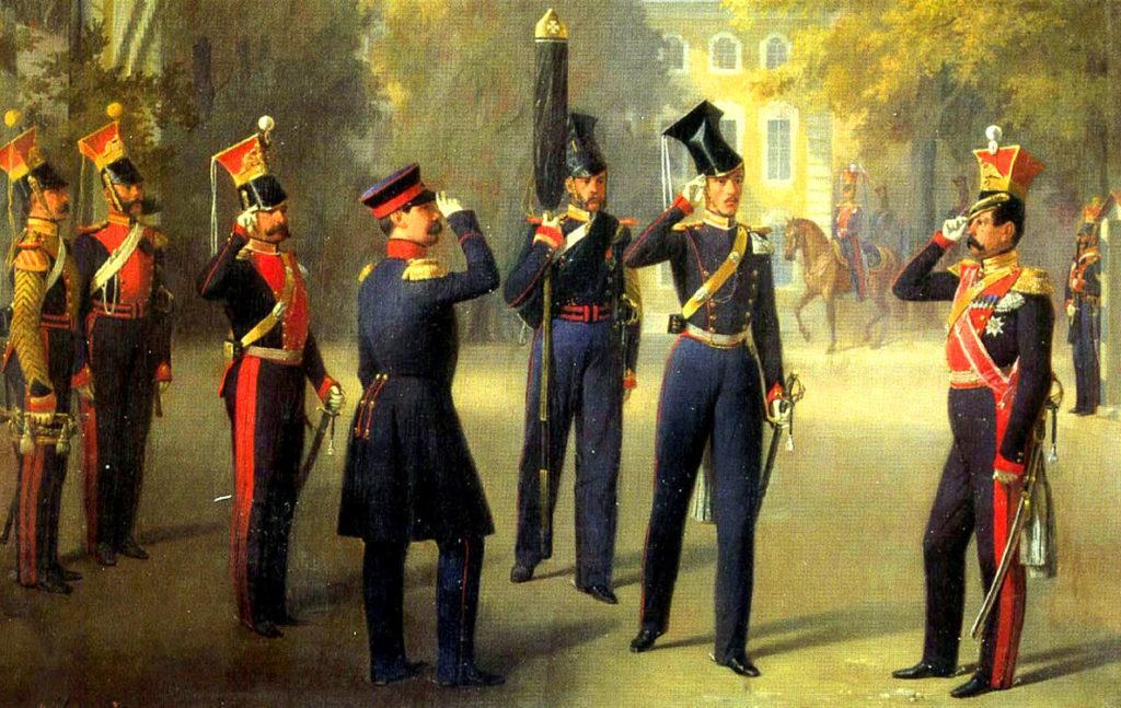 Картина Адольфа Гебенса, посвященная русской армии