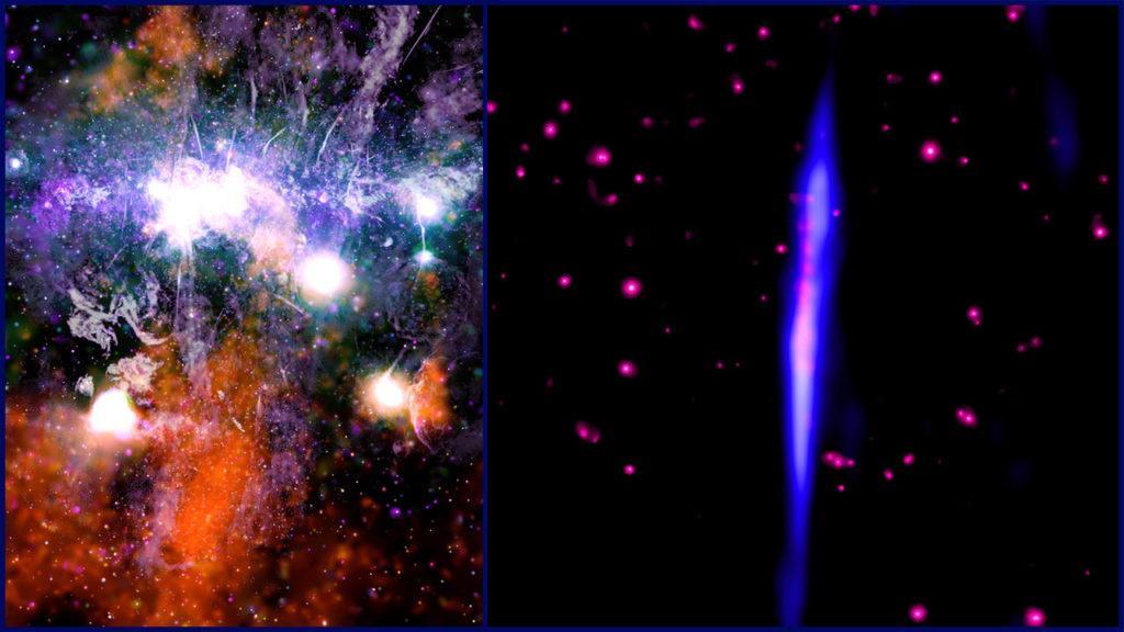 """Центр Галактики и нить G0.17-0.41, телескоп """"Чандра"""""""