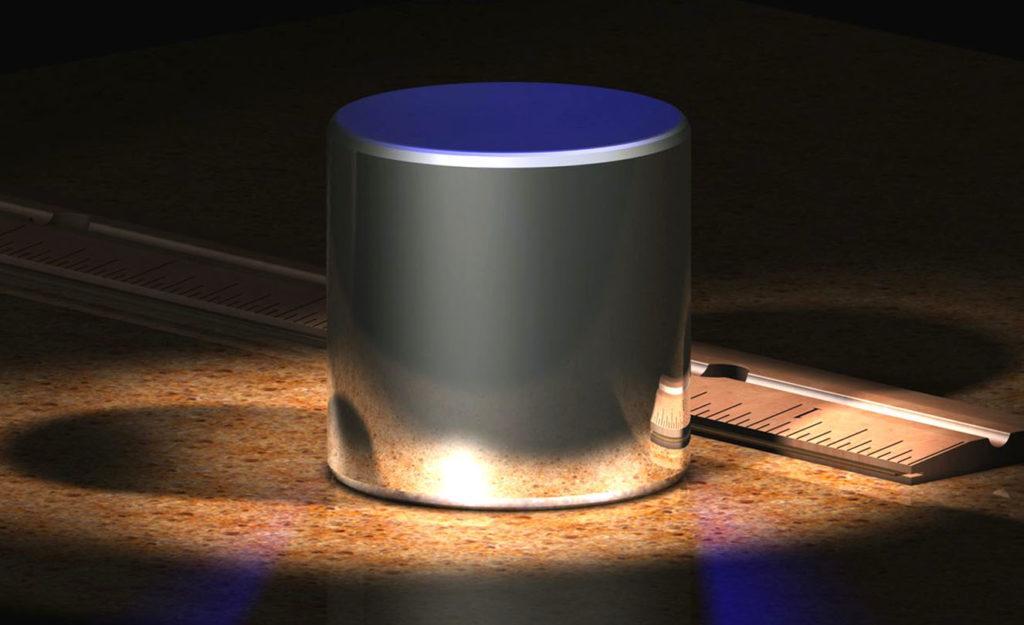 Международный эталон килограмма. Цилиндр из сплава платины (90%) и иридия (10%). Находится в международном бюро мер и весов