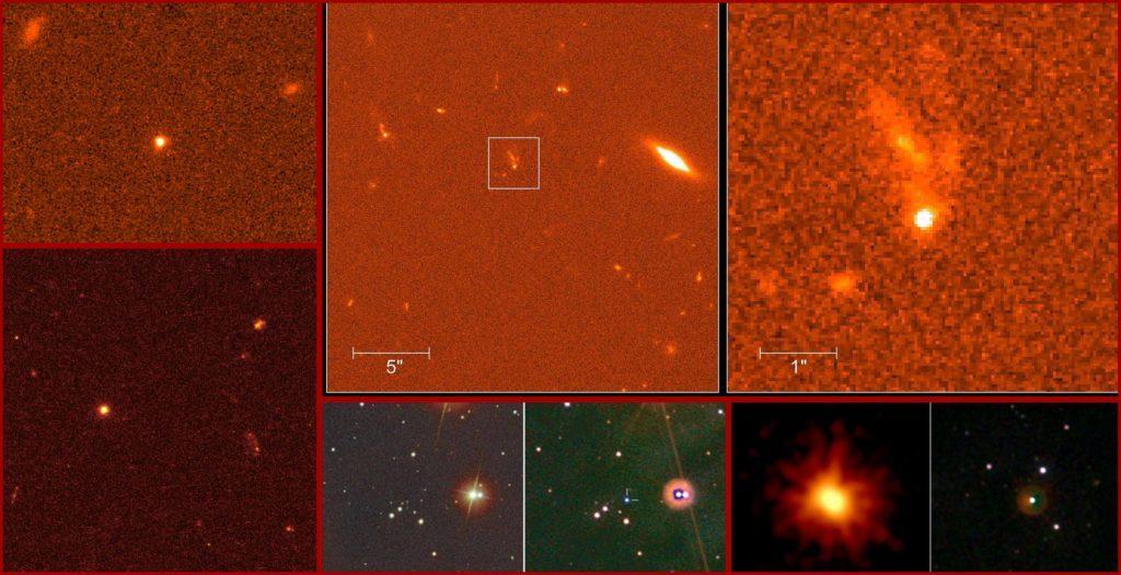 Изображения различных гамма-всплесков