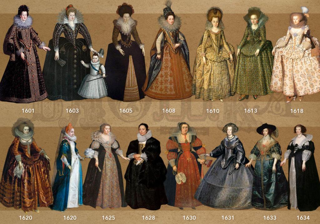 Европейская мода XVII века
