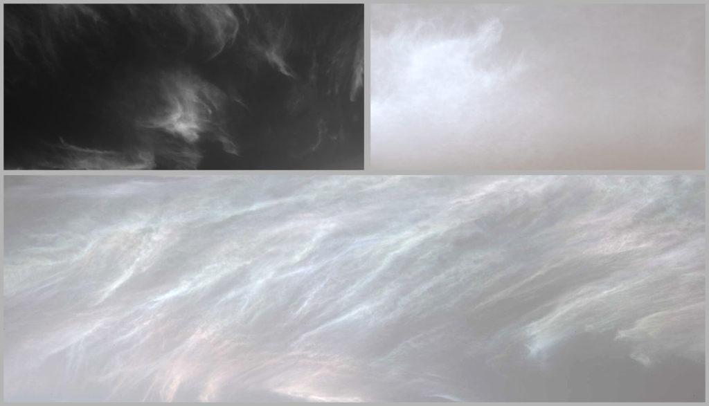 Коллекция снимков облаков на Марсе