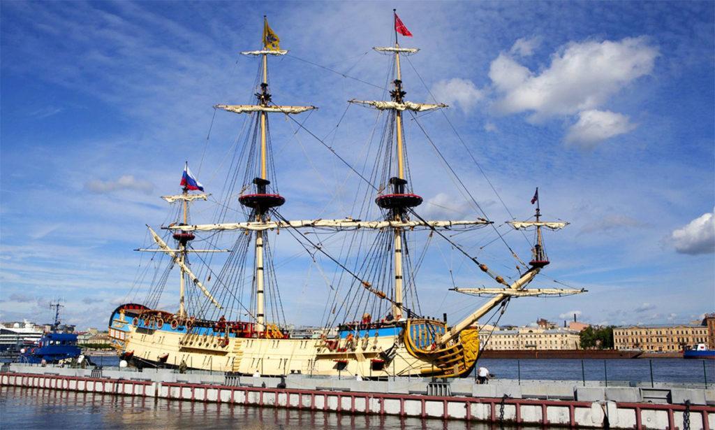 54-пушечный парусный линейный корабль 4 ранга «Полтава» 1712. Реконструкция 2018 года