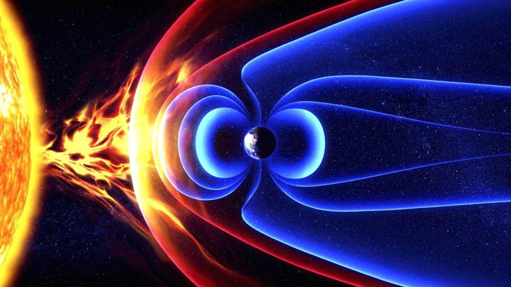 Солнечный ветер - поток ионизированных частиц, истекающий из солнечной короны со скоростью 300—1200 км/с в окружающее космическое пространство