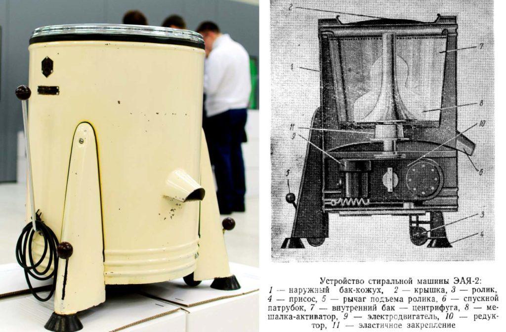 Одна из первых стиральных машин ЭАЯ-2