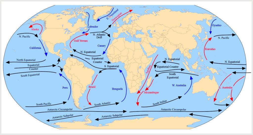 Течения, образующие циркуляцию океана