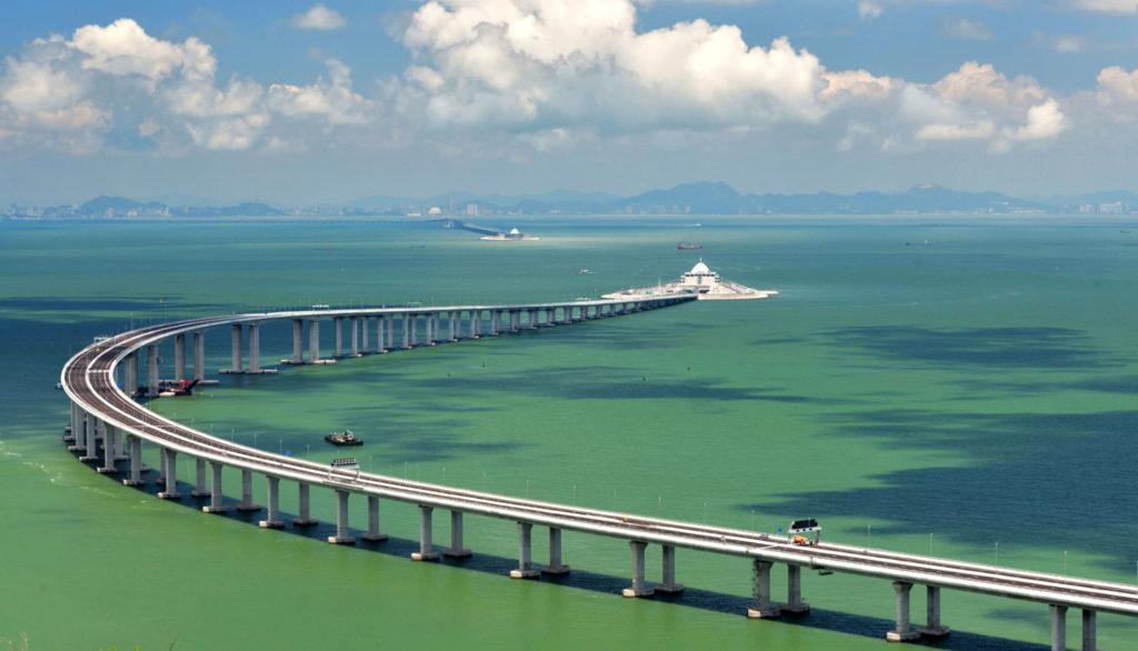 Часть моста Гонконг - Чжухай - Макао