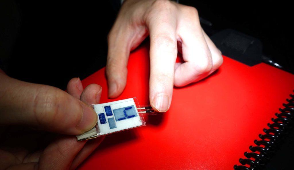 Вариант применения устройства: измерение количества витамина С в организме