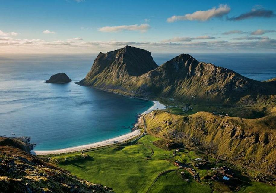Лофотенские острова: пляж