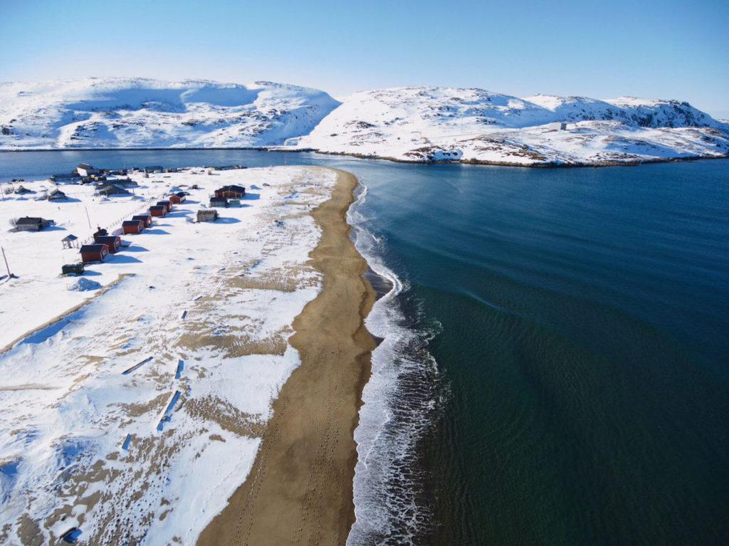 Териберка - пляж зимой