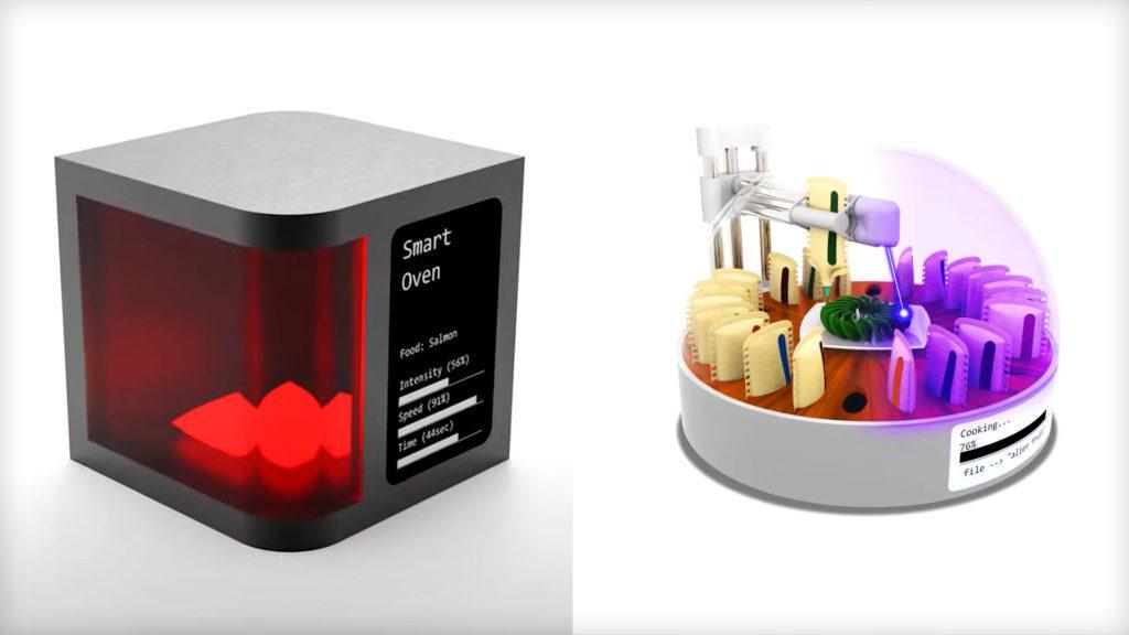Визуализация концепции цифрового устройства для приготовления пищи
