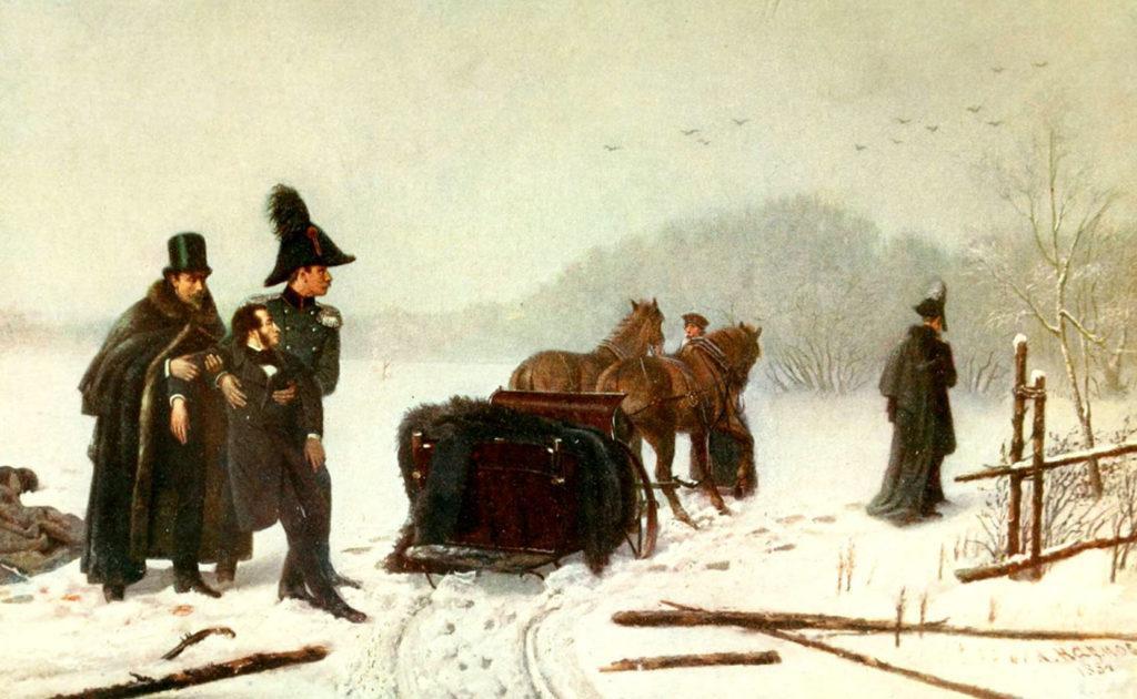 Дуэль Пушкина с Дантесом (А. Наумов, 1884 г.)