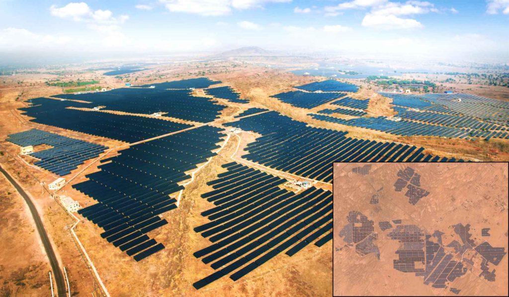 Самая крупная солнечная электростанция Bhadla Solar Park