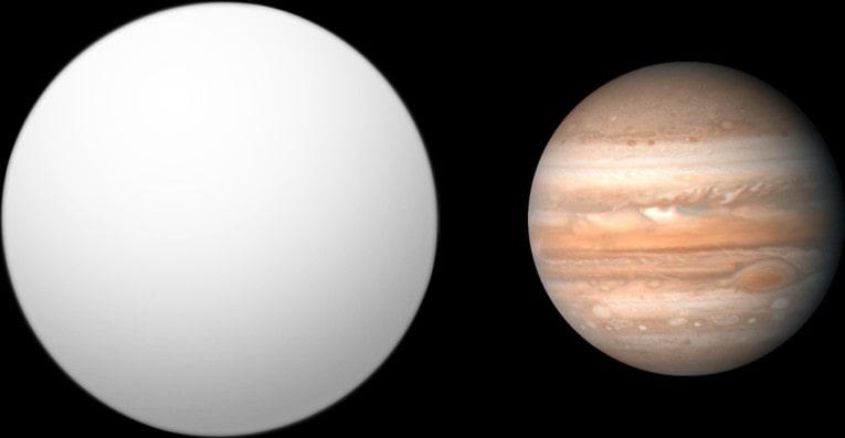 Сравнение HD 209458 b (Осирис) и Юпитера