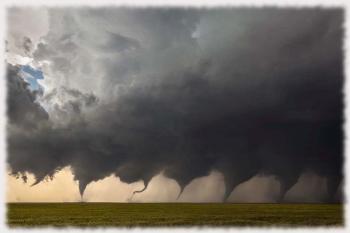 Этапы формирования торнадо