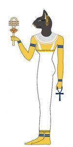 Бастет - богиня кошек, Нижнего Египта, солнца и луны, радости, веселья и любви, женской красоты, плодородия и домашнего очага.