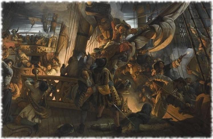 Франсуас-Огюст Биар: Абордаж голландского корабля Жан Баром 29 июня 1694 года