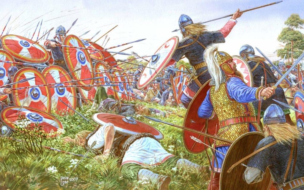 Алеманны против Римской империи. Битва при Аргенторате (битва при Страсбурге), иллюстрация Игоря Дзыся