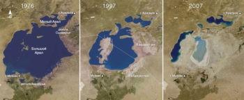 Пересыхание Аральского моря