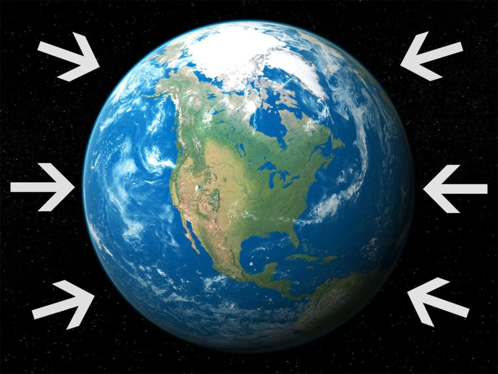 Атмосферное давление - сила, с которой вся газовая оболочка воздействует на поверхность